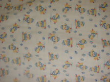 VINTAGE BABY Crib bLANKET Duck PLAID GINGHAM Blue Yellow