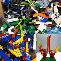 Lego 1kg Bundle Mixed Random Bricks Parts Pieces Job Lot Bulk +3 Minifigures