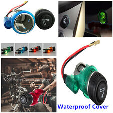 12V Waterproof 4-Color Car Motorcycle Cigarette Lighter Power Socket Plug Outlet