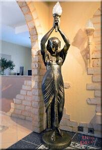 Stehlampe Sklavin XL Pharao Ägyptische Lampe Skulptur Beleuchtung Kunstharz
