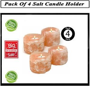 Salt Holder Candle Himalayan Crystal Rock Light Tea Natural Pink Healing Lamp UK