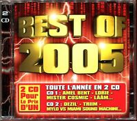 BEST OF 2005 - TOUTE L'ANNEE EN 2 CD - 2 CD COMPILATION NEUF ET SOUS CELLO