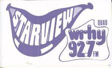 Vintage STARVIEW WRHY 92.7 FM (Quad) Radio Station Bumper Sticker Pennsylvania