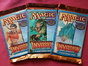 MTG Magic The Gathering INVASION New Sealed Booster ALL 3 DIFFERENT PACK ART