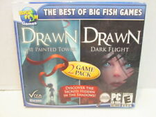 Big Fish Games Drawn The Painted Tower & Drawn Dark Flight  PC CD-ROM  game