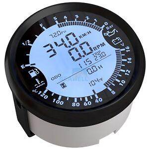 Car Boat  GPS Speedometer Tachometer Oil Pressure Fuel Level Gauge Voltmeter