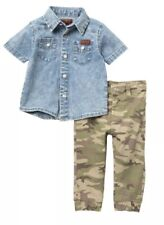 Toddler Boys SZ 3T NWT & For All Mankind Two Piece Jogger Set Camo & Denim