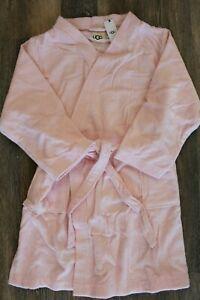 NWT Women's Plus UGG Lorie Terry Plush Bath Robe Pink 1X/2X