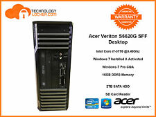 Acer Veriton S6620G SFF Desktop PC Intel i7-3770 @3.40Ghz 16GB MEM 2TB HDD Win 7