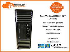 Acer Veriton S6620G SFF DesktopPC Intel i7-3770@3.40Ghz 16GB MEM 2x1TB HDD Win 7