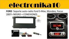 Marco Montaje auto  auto radio Ford S-Max, Mondeo Focus 2007> negro + kit