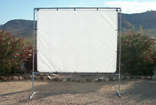 """6' x 10' STANDING OUTDOOR MOVIE THEATER PROJECTION SCREEN KIT ~3/4"""" Fitting"""