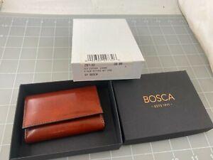Judd's NEW Bosca Cognac Leather 6 Key Wallet Case