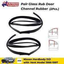 Glass Run Door Channel Rubber Front w Vent Fits Nissan Navara D21 Pickup 1986-96