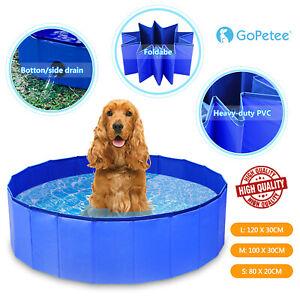 Portable Pet Swimming Pool PVC Foldable Paddling Bath Pool Dog Bathing Water Tub