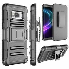 Samsung Galaxy S8 Case Heavy Duty Shockproof w Kickstand and Belt Clip Cove 5.8""