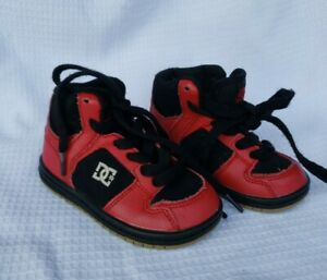 Toddler DC Shoes Tie Laces Red Black Size 5