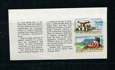 Lesotho 1983 Mushrooms Scott 391a+393a IMPERF Booklet Panes.