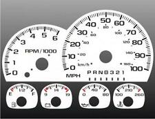 1997-1999 Chevrolet Truck Dash Cluster White Face Gauges 95-98