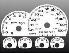 1997-1999 Chevrolet Truck Dash Cluster White Face Gauges 95-98