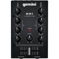 GEMINI MM1 DJ mixer compatto a2 canali equalizzatore rotativo 2 bande crossfader