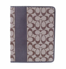 Coach F61761 Khaki/Mahogany Signature Stripe iPad Tablet Case  MSRP $128