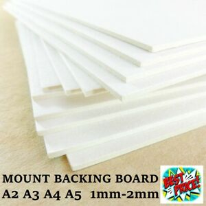 A4 A3 A2 Greyboard 1mm 1.5 2mm Micron Craft Card Thick Mount Board Frame Backing