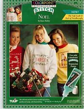 Tulip ColorPoint Paint Stitching Noel Christmas Santa Pattern Transfers Bailey