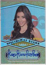 2009 UD SPECTRUM OF STARS AUTO: KIM KARDASHIAN - AUTOGRAPH REALITY STAR SEX TAPE