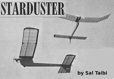 """Model Airplane Plans (FF): 1/2A Starduster 42"""" for .049 by Sal Taibi"""