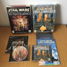 Star Wars Big Box PC Games Force Commander & The Phantom Menace COMPLETE