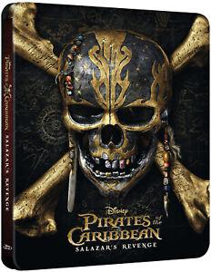 Pirates of the Caribbean: Salazar's Revenge - Steelbook - Zavvi Bluray 3D - NEW