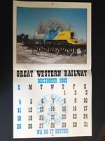 Great Western Railway Railroad 1983 Calendar Colorado  Print Poster