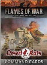 DESERT RATS COMMAND CARDS - FLAMES OF WAR - FW241C - IN STOCK NOW SENT 1ST CLASS