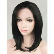 AU STOCK Bob Short Black Synthetic Ladies Lace Front Cosplay Wig Heat Resistant