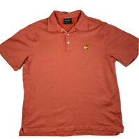 The Masters Bobby Jones Polo Shirt Mens Large Made In Italy Golfing Short Sleeve