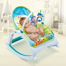 Baby Bouncer Swing Seat Rocker Portable Electric W/ Sounds Infant Cradle Chair A