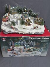 "Puleo Large 15"" Christmas Lighted Village Fiber Optic Holiday Decor Ski & Sled"