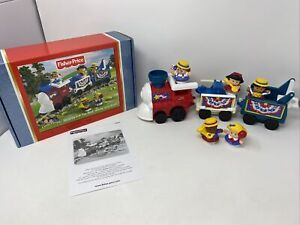Fisher Price Little People Hooray for Red White Blue Train 4th of July TESTED