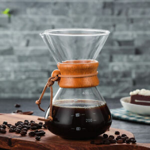 200/400ml Pour Over Coffee Maker With Stainless Steel Filter Chemex Household