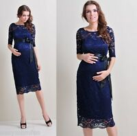Maternity Evening Dress,Maternity Gown,Party,Baby shower,Wedding,lace, Knee 41A