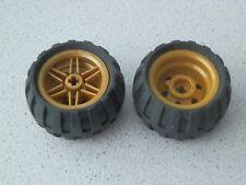 Lego 56145c04# 2x Reifen Räder Rad 43.2x26 Felge pearl gold 70502 9444
