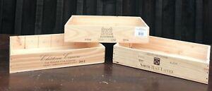 6 Bottle Wooden Wine Box Crate Shallow - Storage/Display/Hamper - *FREE P&P*