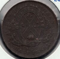 1837 - Prov. of Canada - Bank of Montreal - ½ Penny - Superfleas - LC-8D2