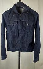 Men's zip front GAP selvedge blue denim jacket Small unisex style