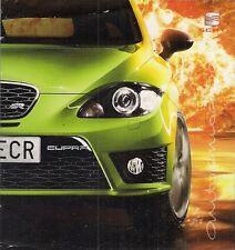 Seat Leon Cupra R 265 2009-10 UK Market Launch Foldout Sales Brochure