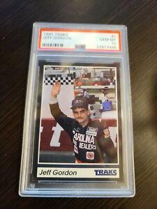 JEFF GORDON 1991 TRAKS #1 RC ROOKIE PSA 10 POP 44 SUPER RARE!