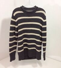 EDDIE BAUER MEN'S STRIPED SWEATER RUGGED CARBON SMALL NWT
