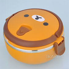 New Rilakkuma Bear Lunch Box Food Container Storage Box Portable Bento Box