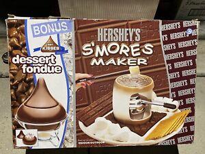HERSHEY'S S'MORES MAKER & BONUS HERSHEY KISSES DESERT FONDUE SET Open Box